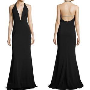 Badgley Mischka Halter Black Gown